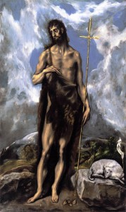 St. John the Baptist by El Greco